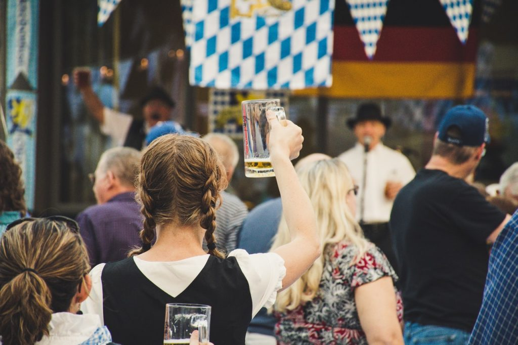 Woman celebrating at Oktoberfest